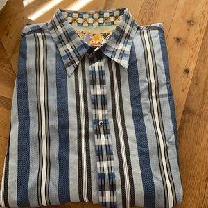 Robert Graham blue mix plaid long sleeve shirt